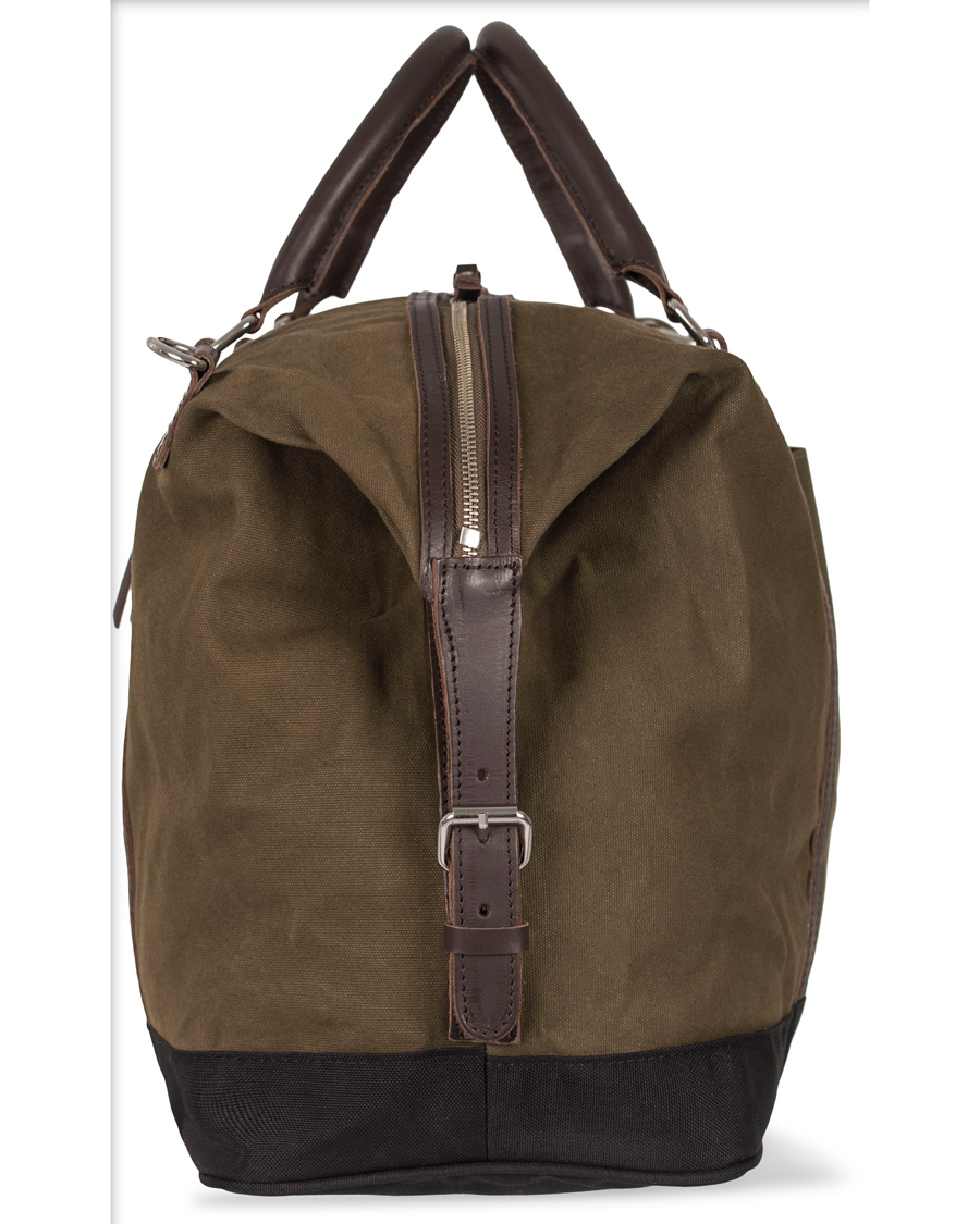 00e820aea50a Sandqvist Jordan Canvas Weekendbag Waxed Olive hos CareOfCarl.co