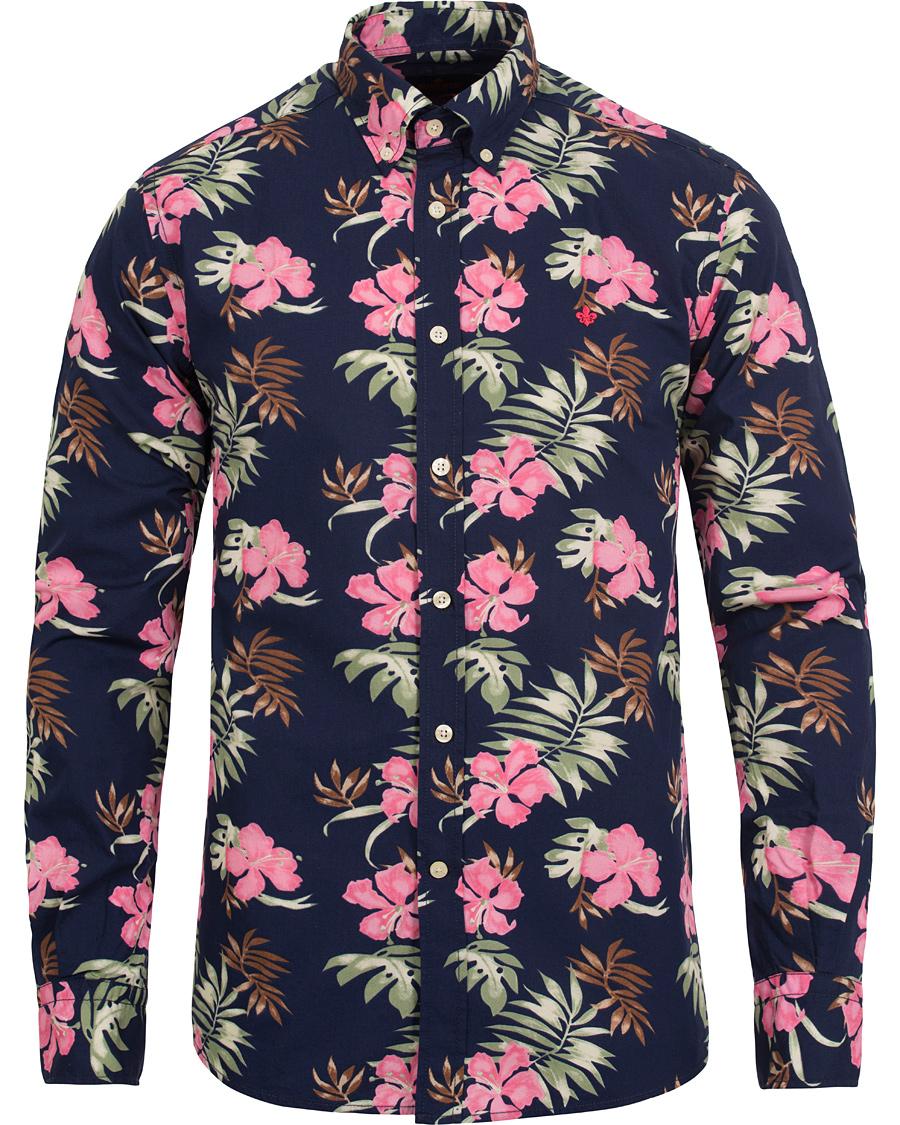 21b33511c50 Morris Douglas Flower Shirt Navy hos CareOfCarl.com