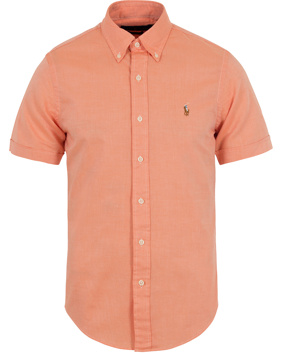 Polo Ralph Lauren Slim Fit Chambray Oxford Short Sleeve Shirt Nectarine 99f66545f686b