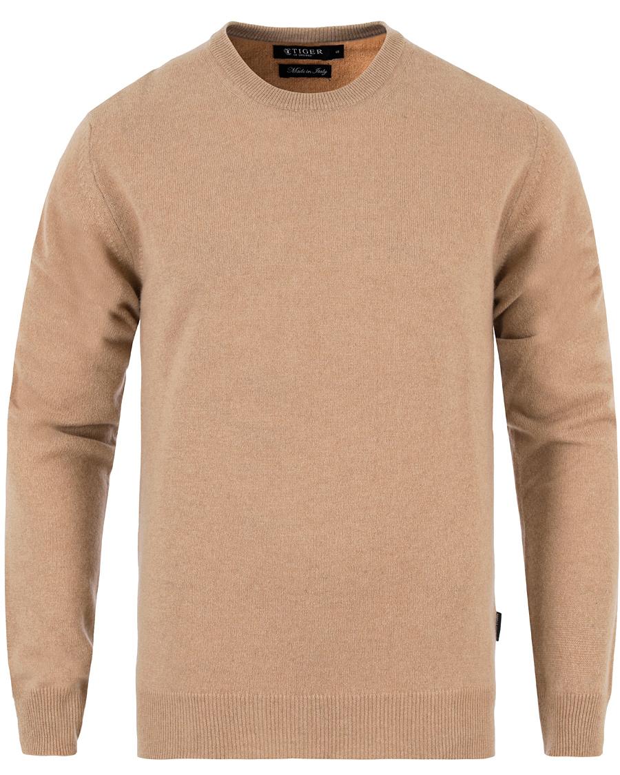Tiger of Sweden Trind Cashmere Sweater Camel Beige hos