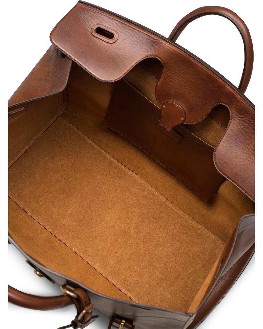 0ec1ff8479 Ralph Lauren Purple Label Soft Cooper Weekend Bag Brown Vintage Vacchetta