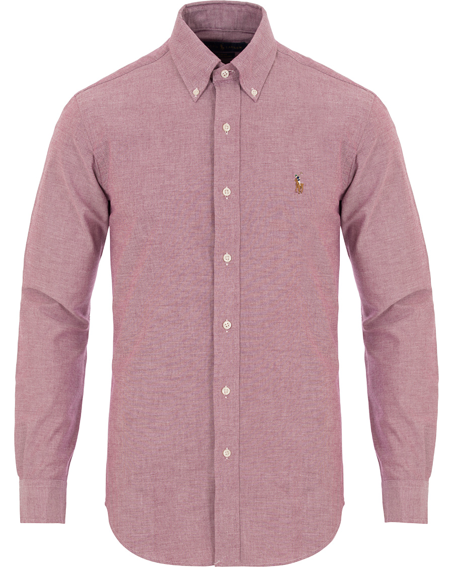 f7f452bc Polo Ralph Lauren Slim Fit Stretch Oxford Shirt Crimson Purple ho