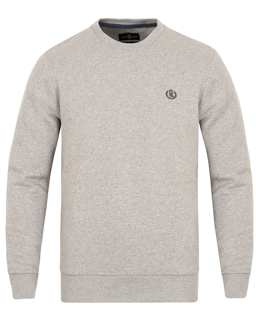 965bc769887 Henri Lloyd Bredgar Crew Neck Sweat Grey Marl hos CareOfCarl.com