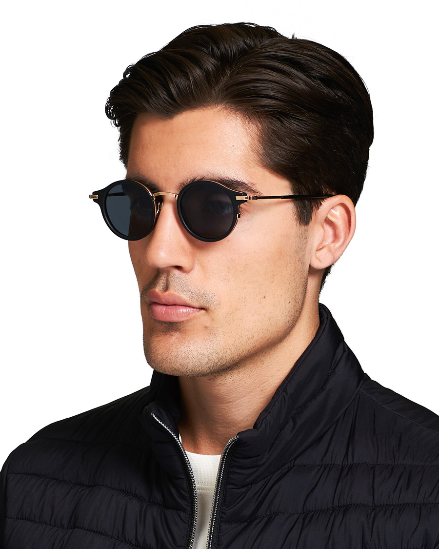 Thom Browne TB 807 Sunglasses Matte BlackDark Grey
