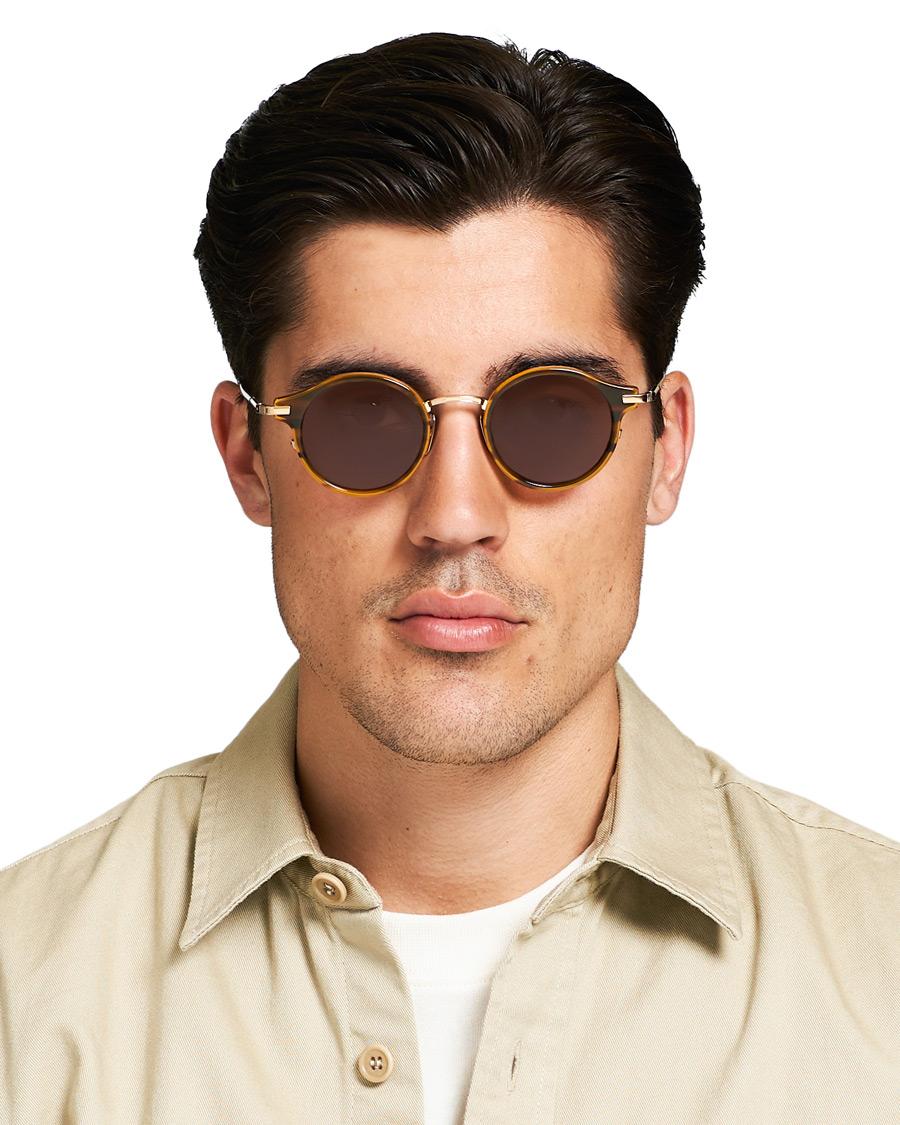 5e30f359388 Thom Browne TB-807 Sunglasses Walnut Dark Brown hos CareOfCarl.c