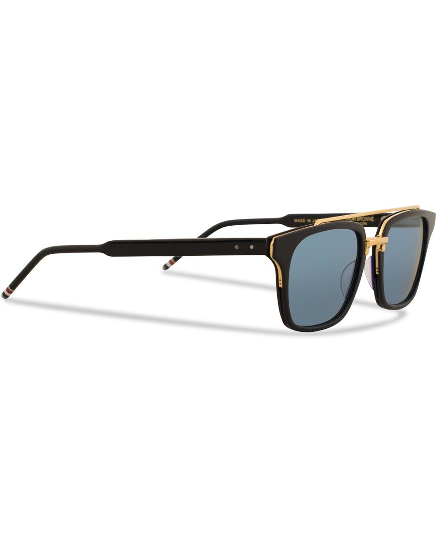 4dc7b713521 Thom Browne TB-803 Sunglasses Matte Navy Dark Blue hos CareOfCar