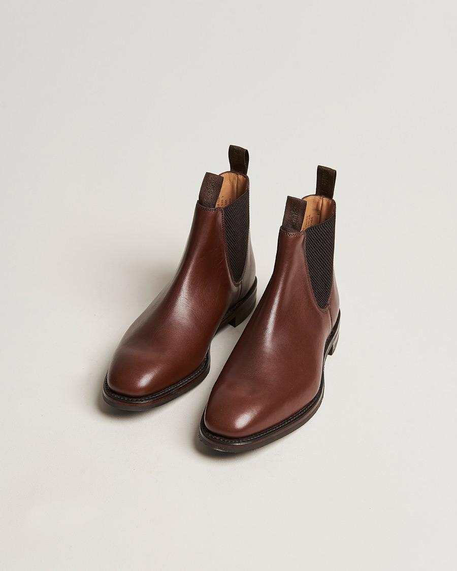 Loake 1880 Chatsworth Chelsea Boot Brown Waxy Leather UK6 EU40