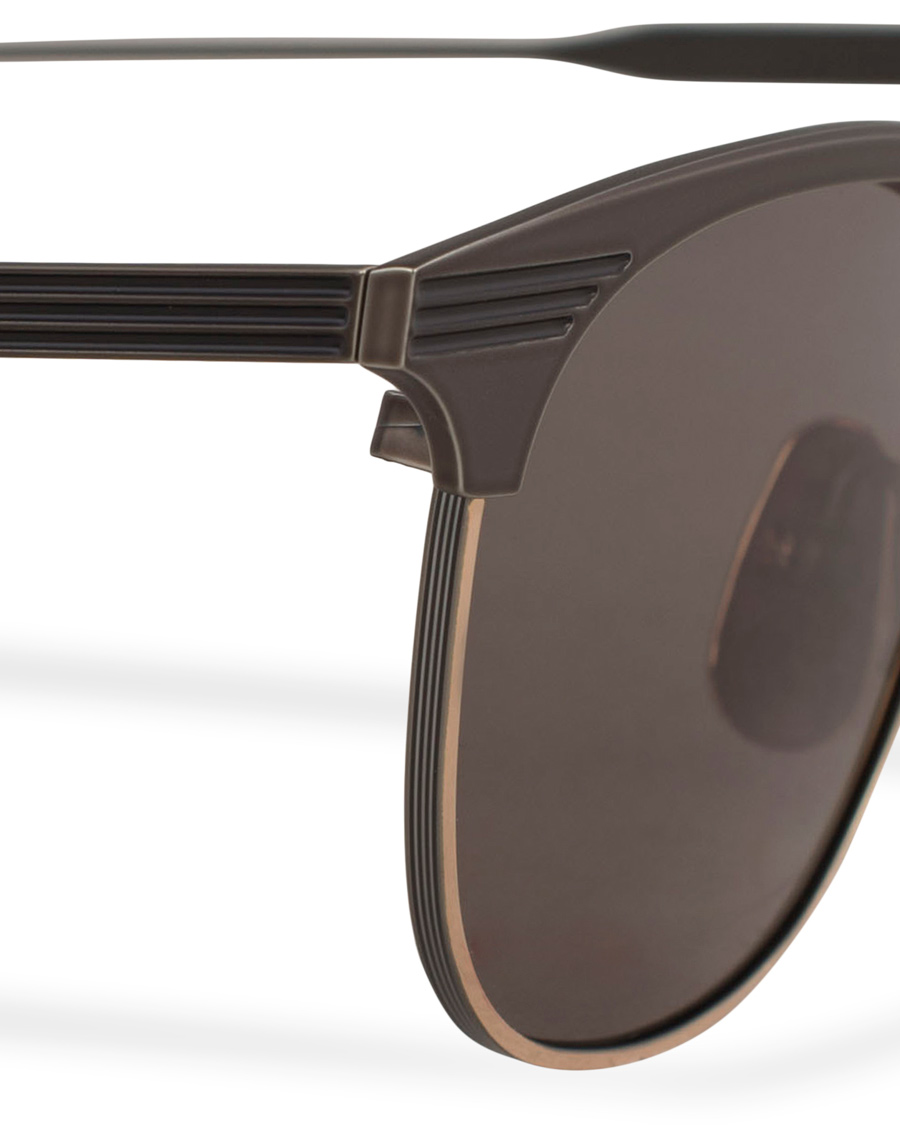 b608ba6922d Thom Browne TB-104 Sunglasses Black Iron 12 Carat Gold hos CareO