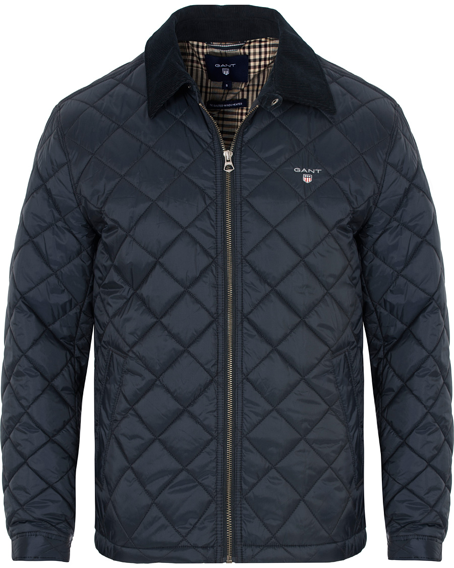 GANT The Quilted Windcheater Navy hos