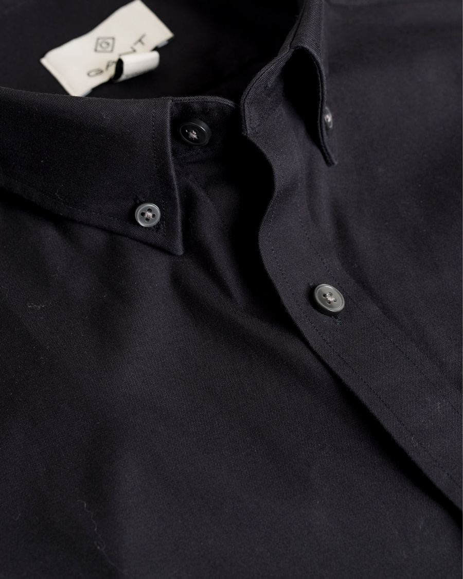 GANT Diamond G G. Pinpoint Oxford Fitted Body Shirt Black hos Car f5eabbc931ffc