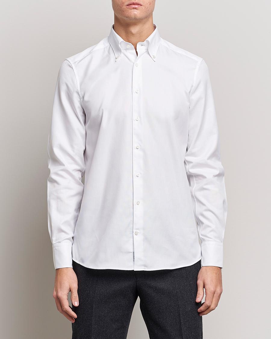 Stenströms 1899 Slim Supima Cotton Structure Shirt White hos Care 287768f9bc125
