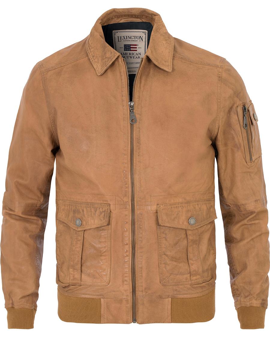 1b230dca Lexington Layton Pilot Leather Jacket Cognac hos CareOfCarl.com