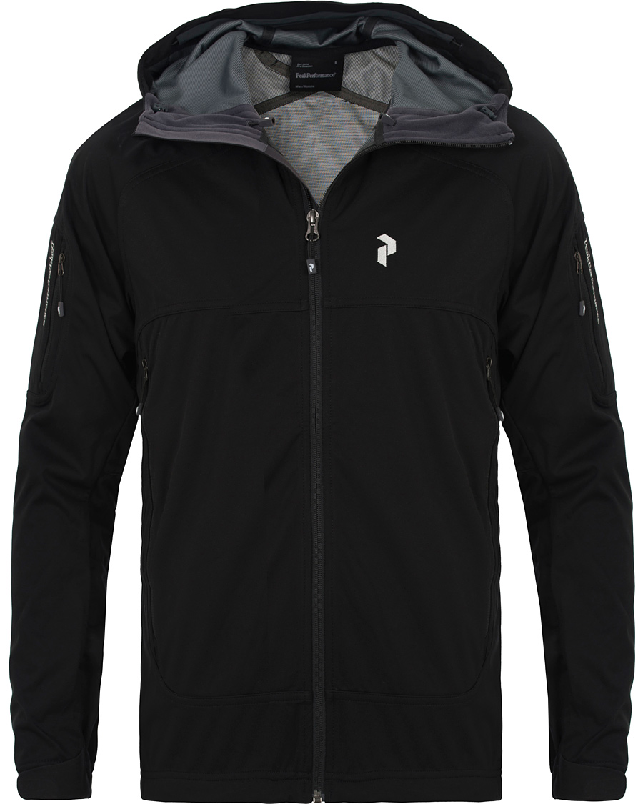 Peak Performance Aneto Soft Shell Hooded Jacket Black hos