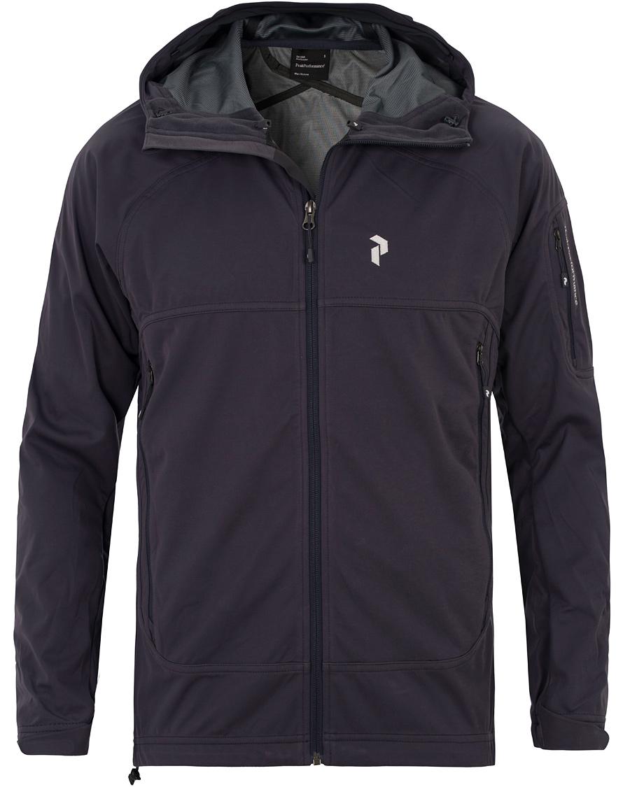 Peak Performance Aneto Soft Shell Hooded Jacket Slate Blue