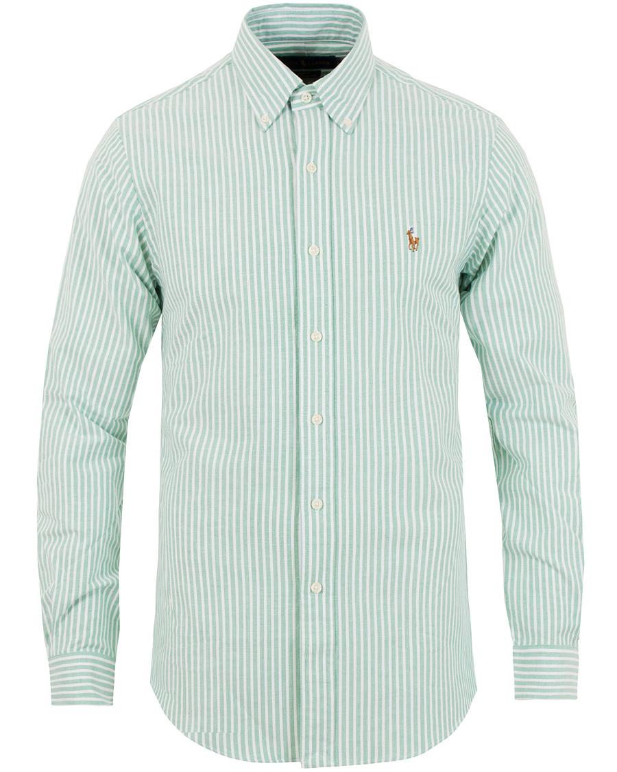 67c79b562 Polo Ralph Lauren Slim Fit Oxford Stretch Stripe Shirt Green White