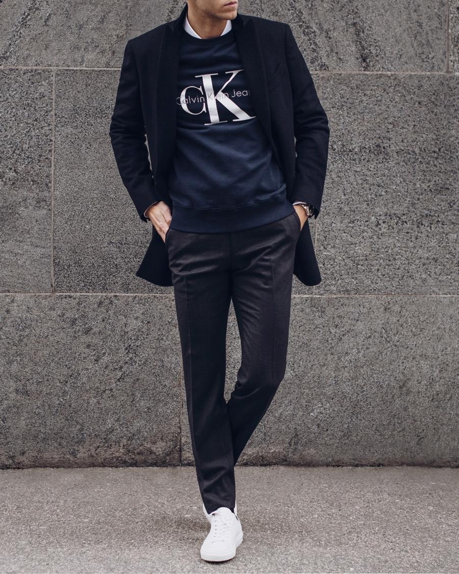 Calvin Klein True Icon Crew Neck Sweat Nightsky hos