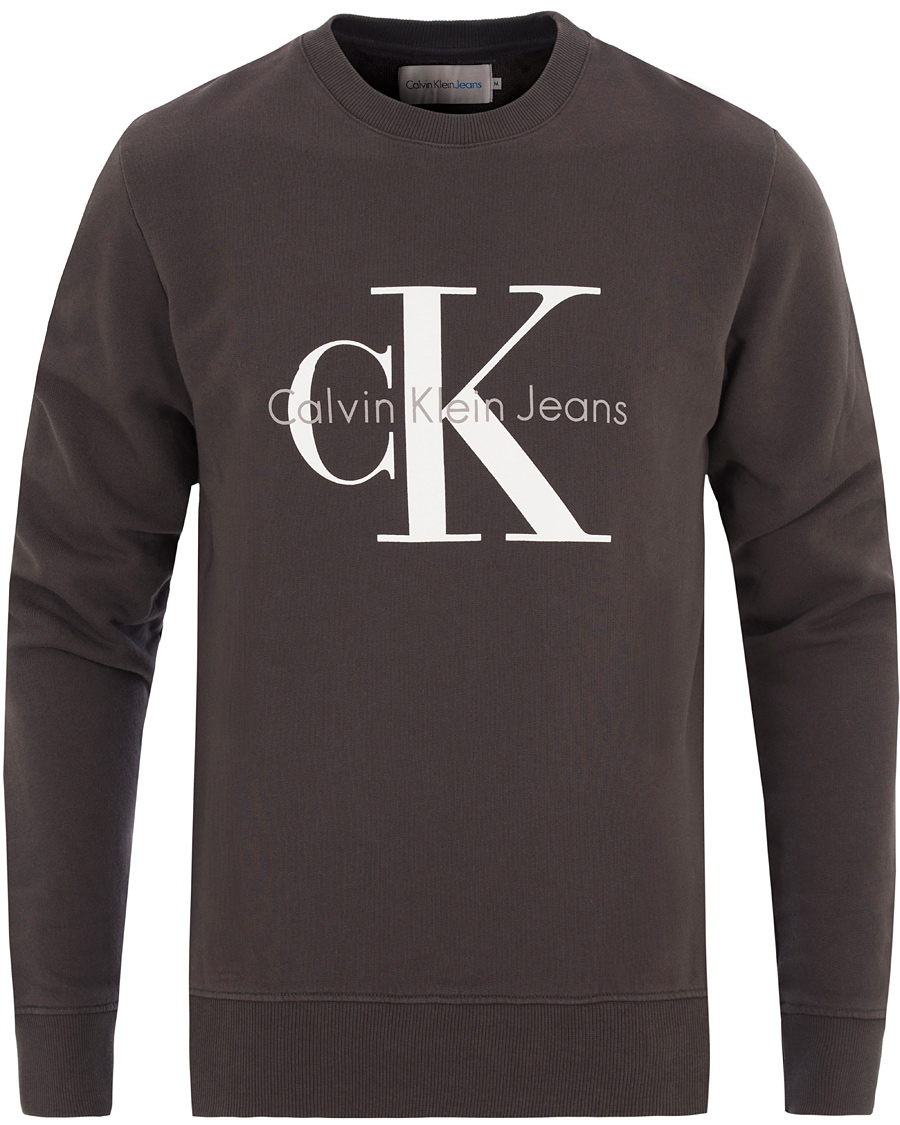 85b2e59bdab1 Calvin Klein True Icon Crew Neck Sweat Black hos CareOfCarl.com