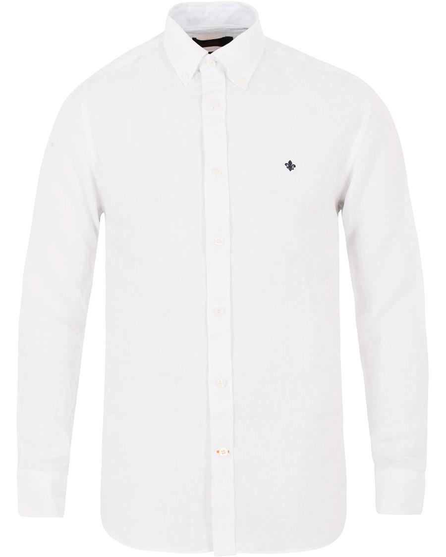79fb393a Morris Douglas Linen Shirt White hos CareOfCarl.com