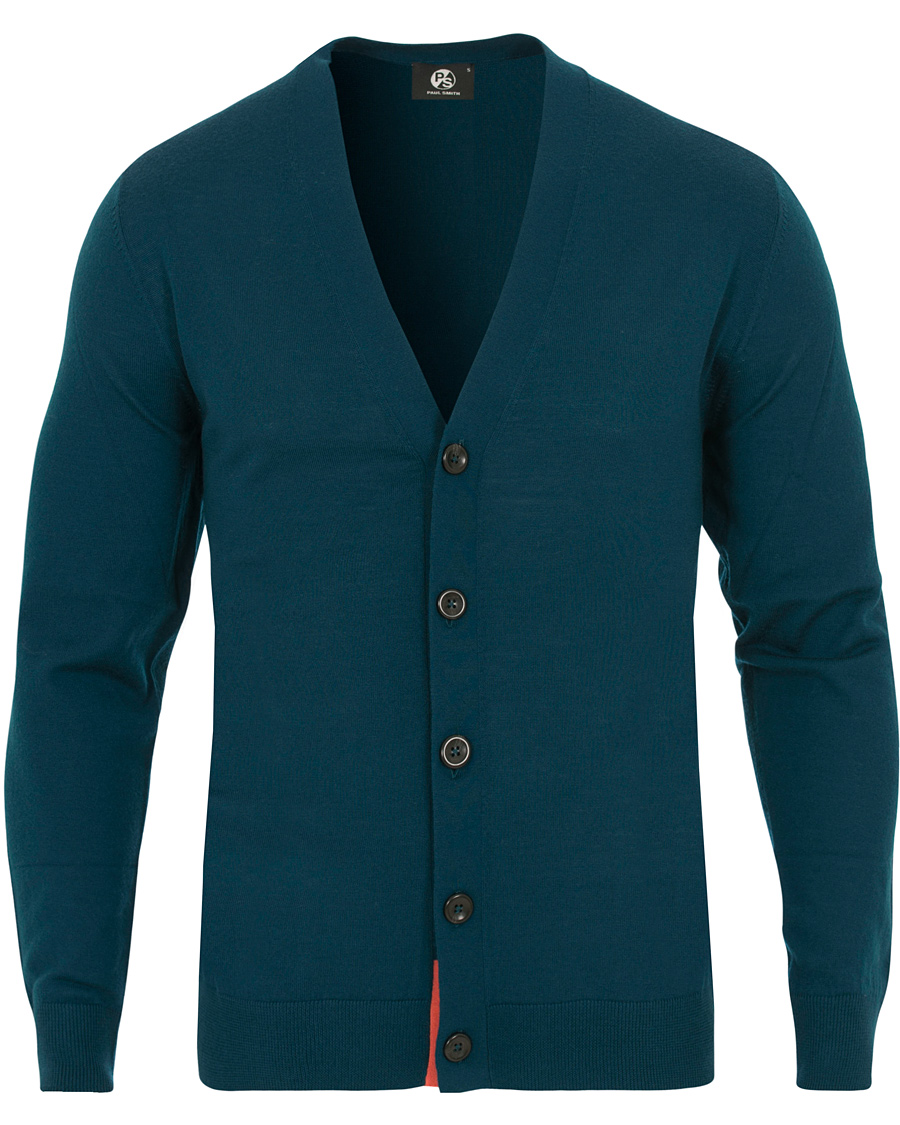 PS By Paul Smith Merino Cardigan Petrol hos