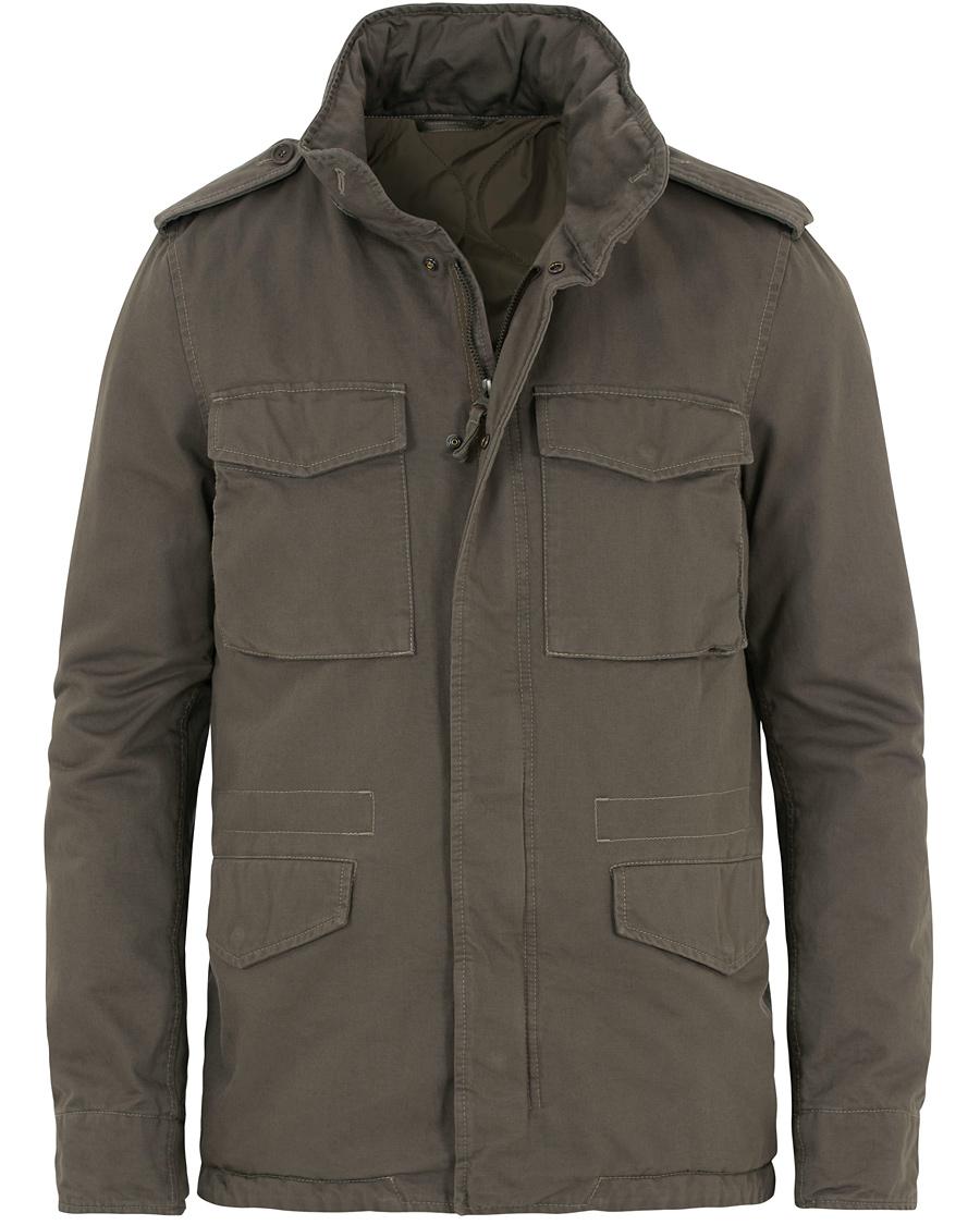 Aspesi Cotton Field Jacket Olive hos