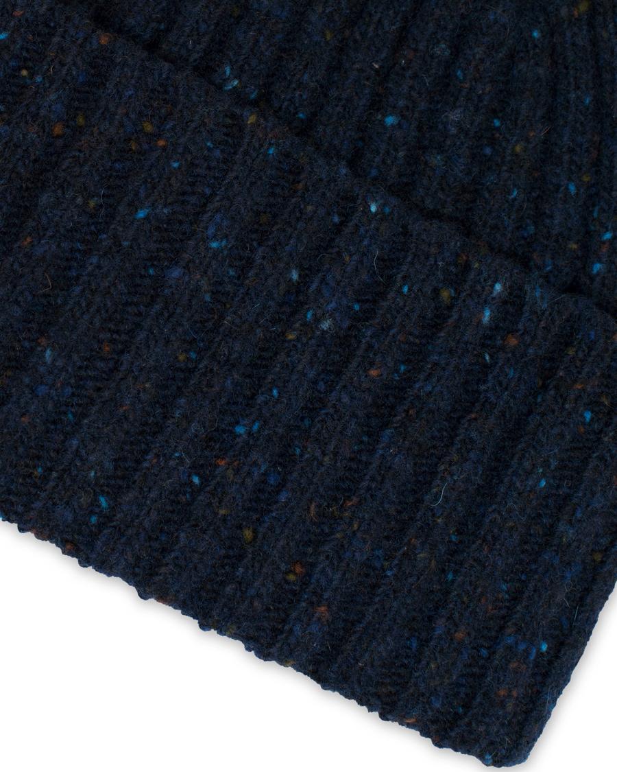Drake s Donegal Merino Wool Hat Navy hos CareOfCarl.com 4b7001e7e83