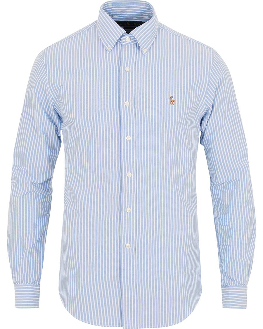 4f582df9ef52 Polo Ralph Lauren Slim Fit Oxford Stripe Shirt Blue/White hos Car