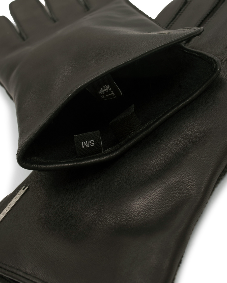 e6bd6612 Tiger of Sweden Wandalus Calf Leather Gloves Black hos CareOfCarl