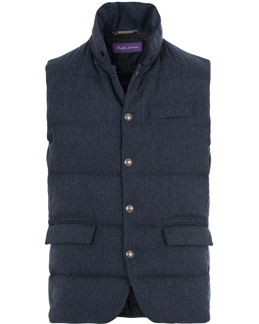 Ralph Lauren Purple Label Lloyd Down Filled Wool Vest Dark