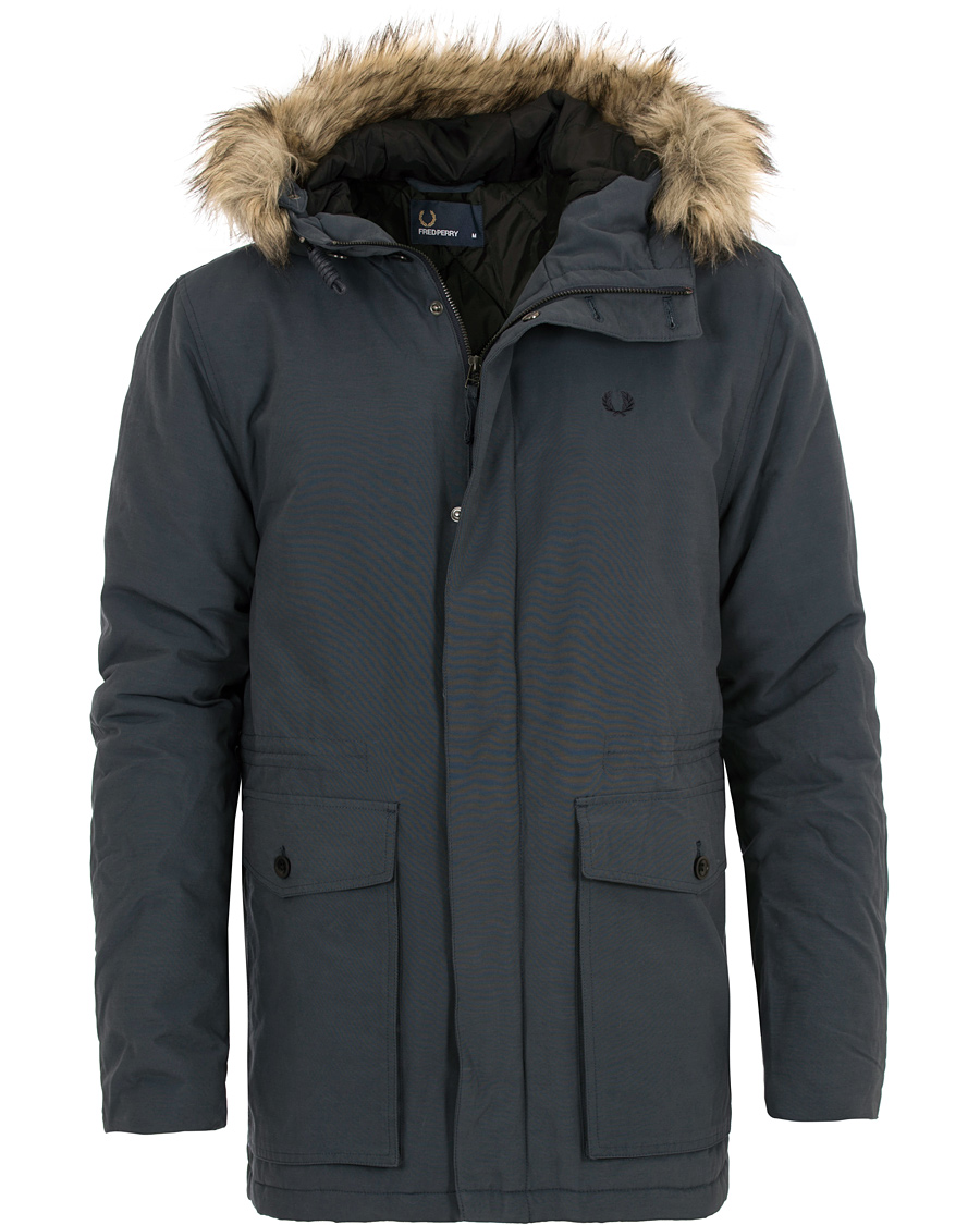 Fred Perry Parka Dark Airforce hos