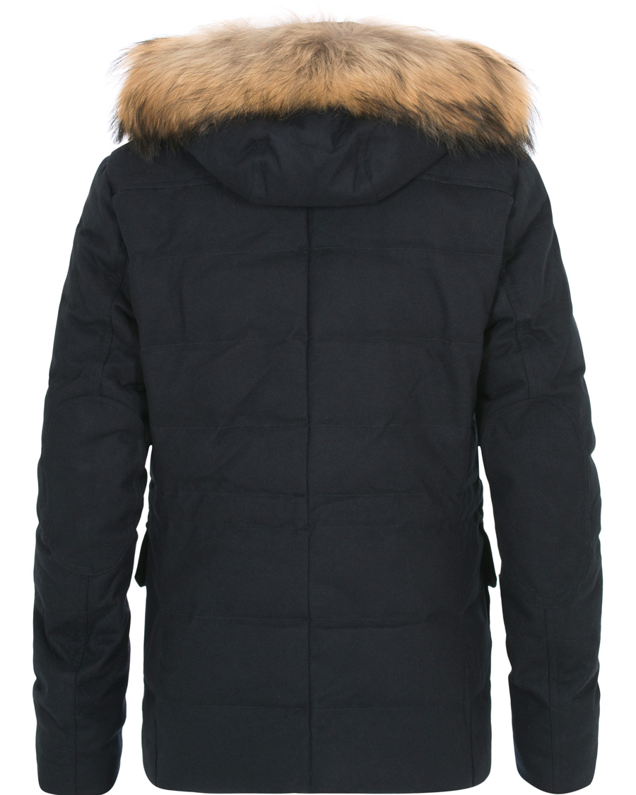 1e091ad5cea Hackett Mayfair Wool Down Parka Navy hos CareOfCarl.com