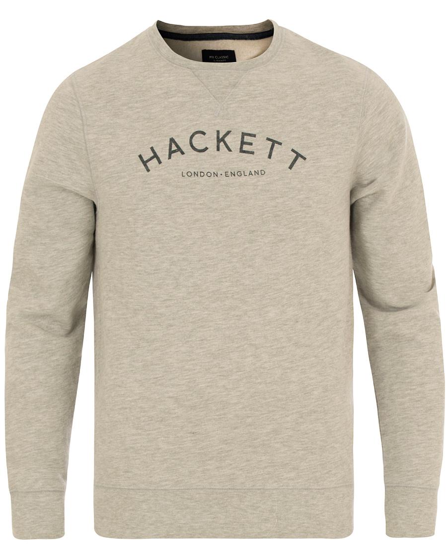 Hackett Mr Classic Logo Crew Neck Sweater Grey hos