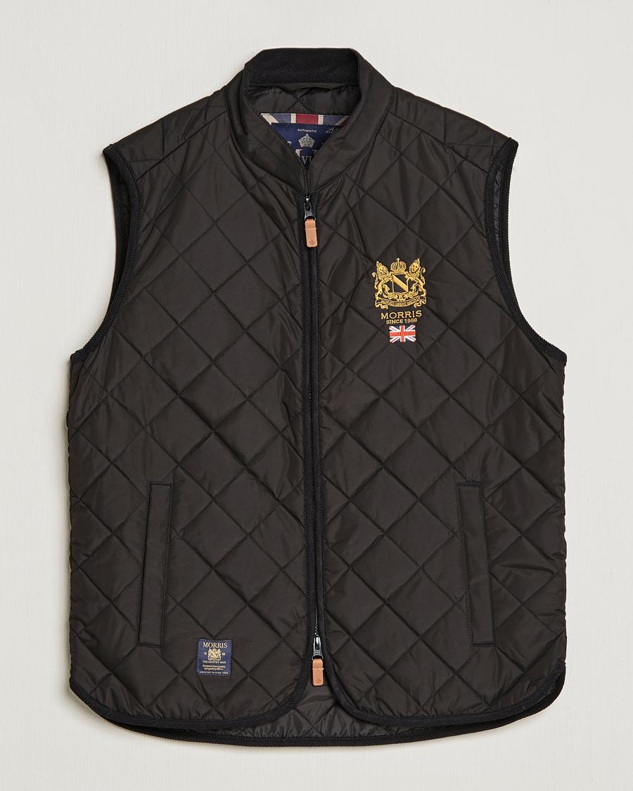 Morris Trenton Quilted Vest Black XS