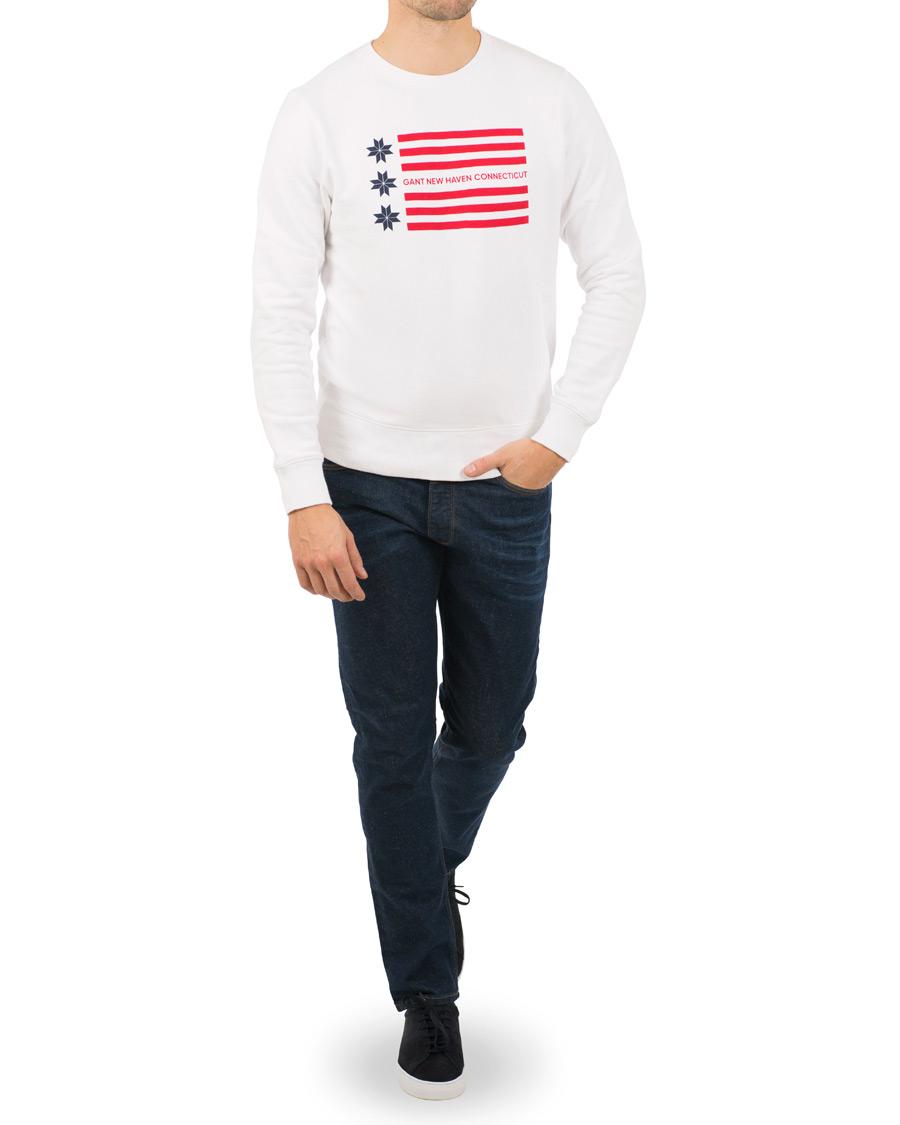GANT American Flag Snow Flake Sweatshirt White hos