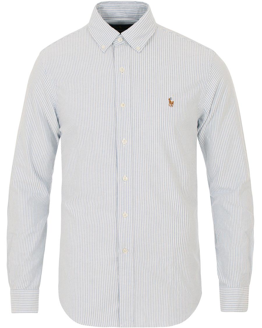 9f13555d7 Polo Ralph Lauren Slim Fit Shirt Oxford Stripes Blue hos CareOfCa