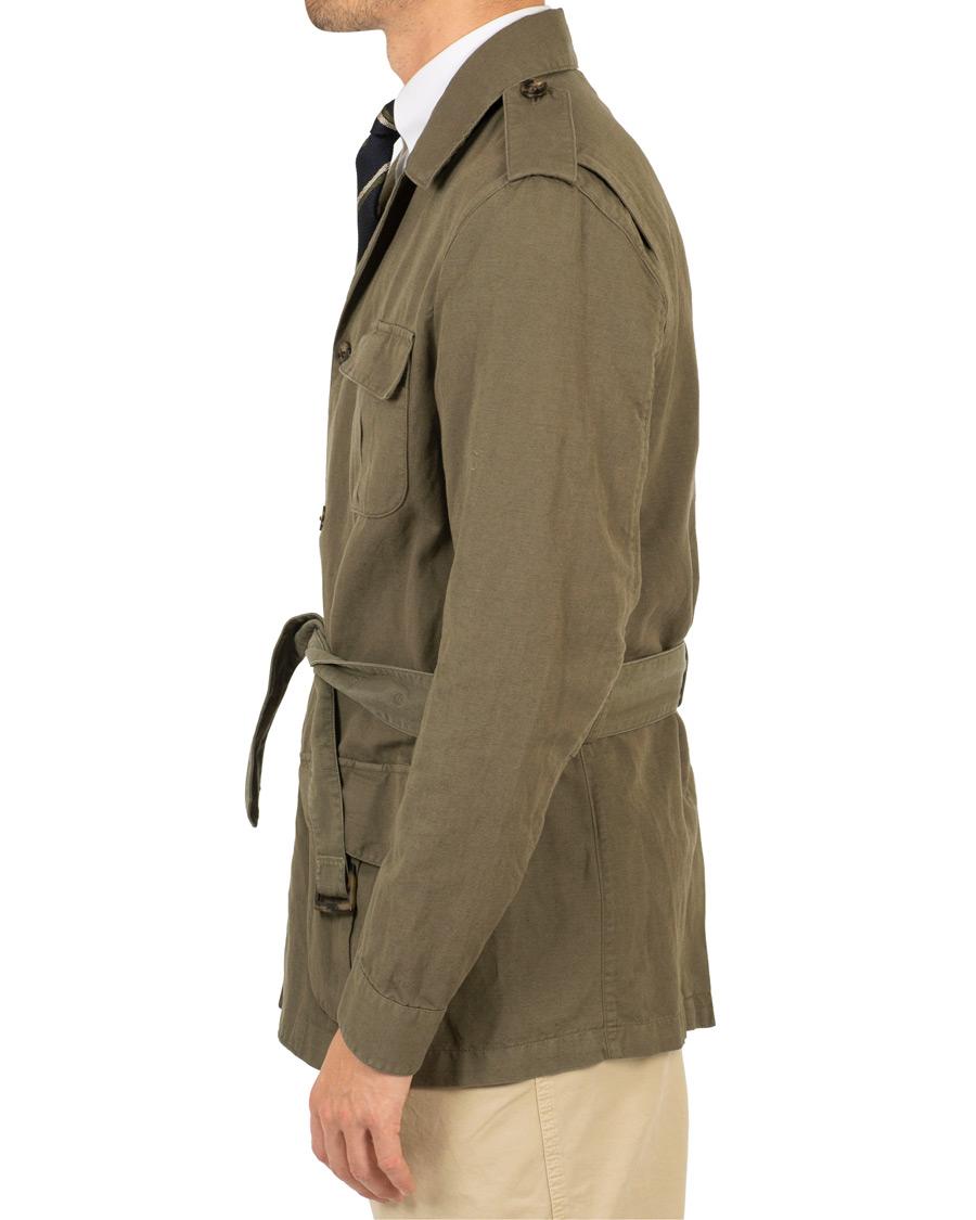Stenströms CottonLinen Safari Jacket Green hos