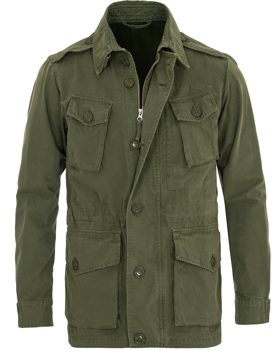 Aspesi Toronto Evolution Cotton Field Jacket Green hos