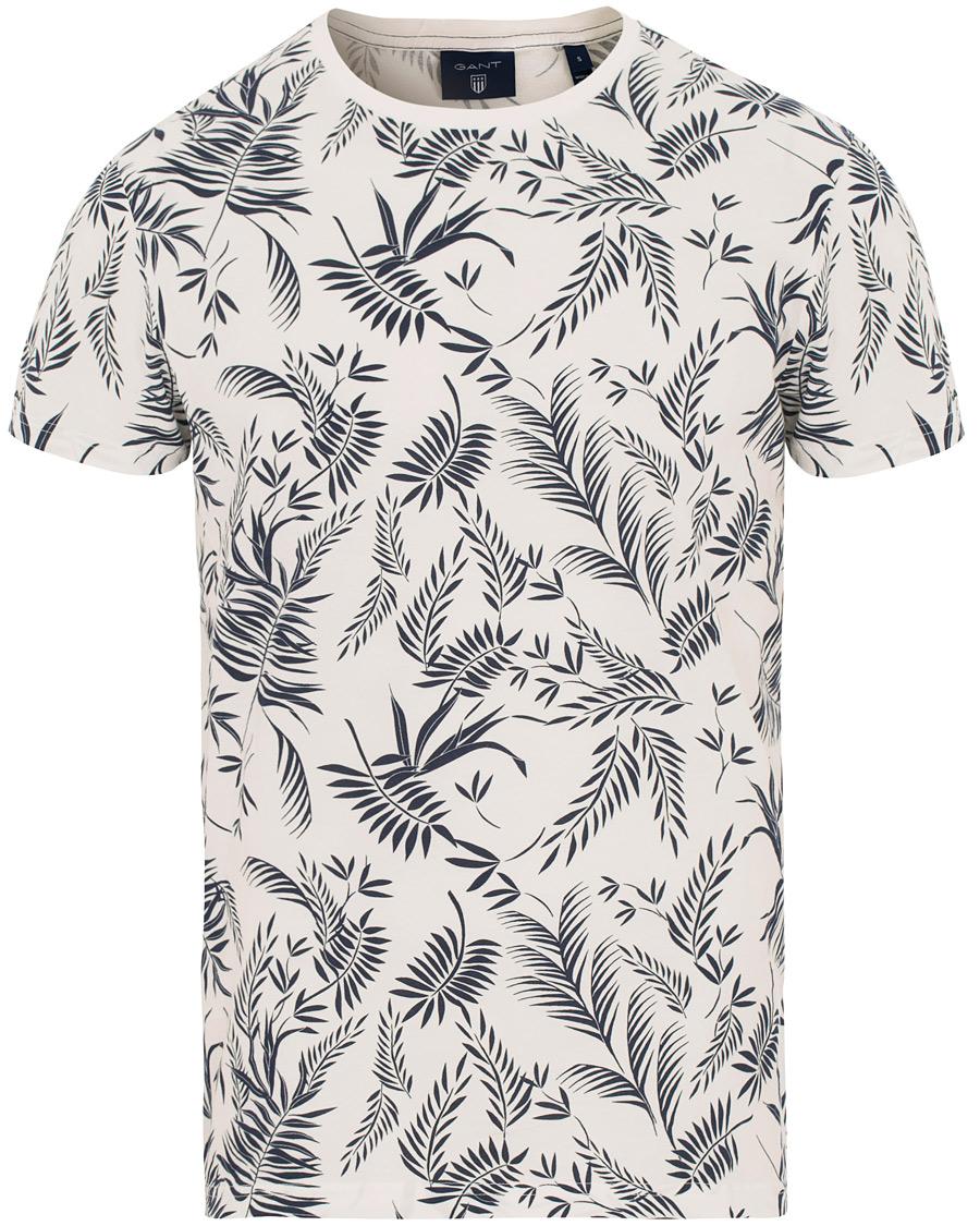 4573e5037e9a GANT Leaf Print T-shirts Eggshell hos CareOfCarl.com