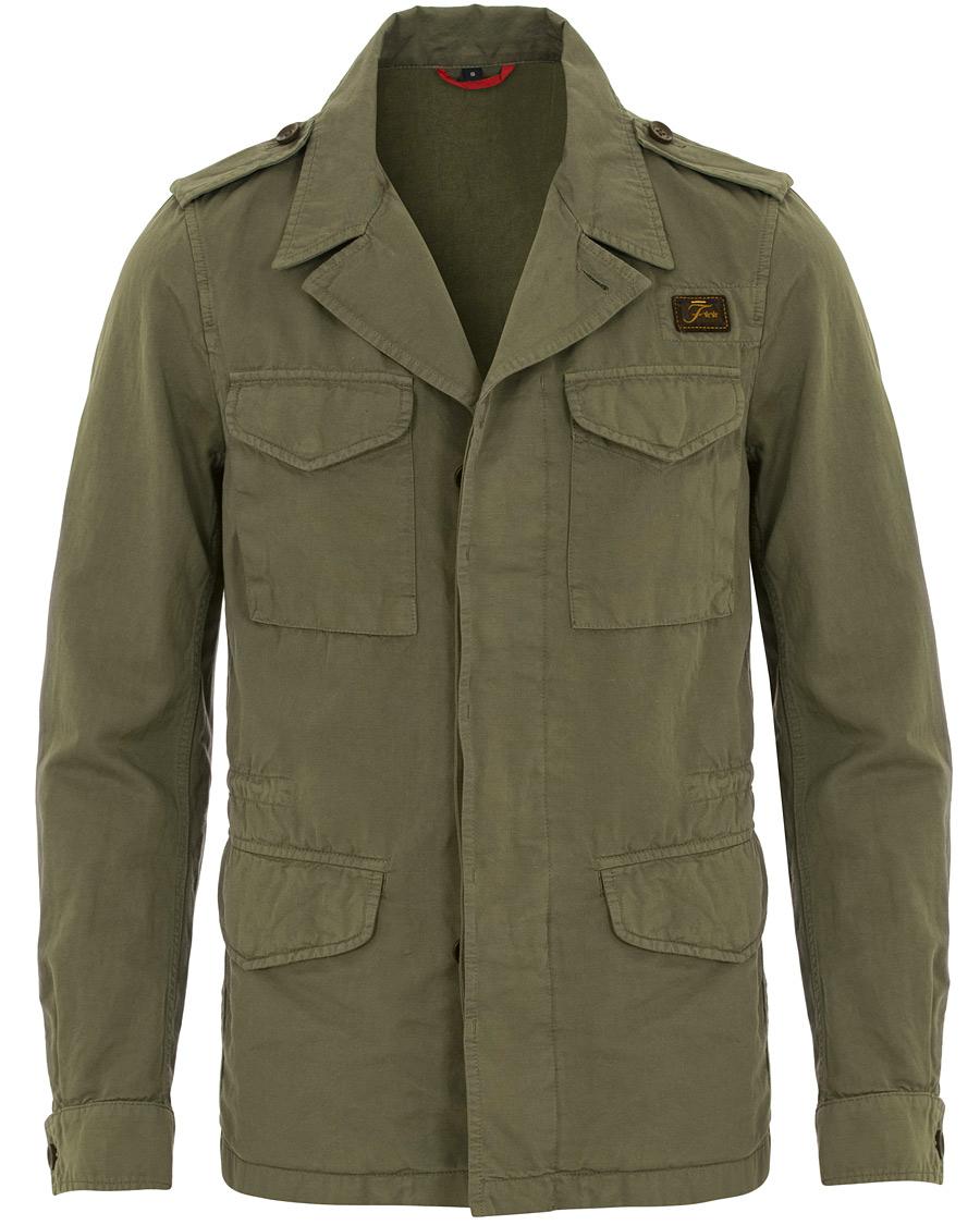 Fay Escape Cotton Field Jacket Military Green hos