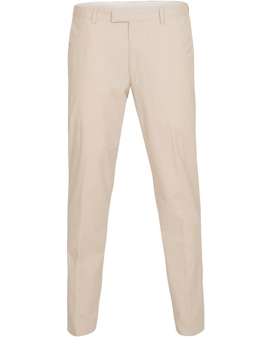 Oscar Jacobson Denzel Cotton Stretch Trousers Beige hos CareOfCar 8936a764376c1