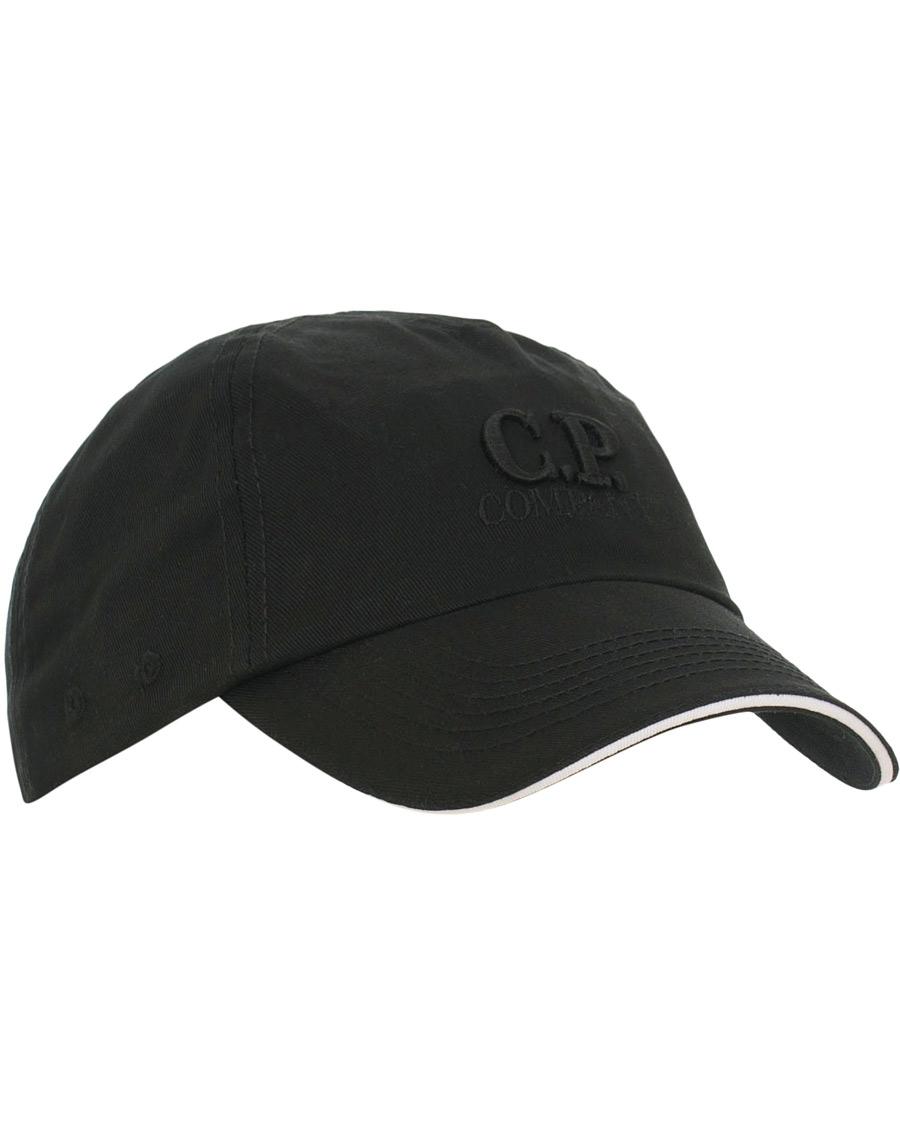 C.P. Company Logo Cap Black hos CareOfCarl.com 60d7c658e976c