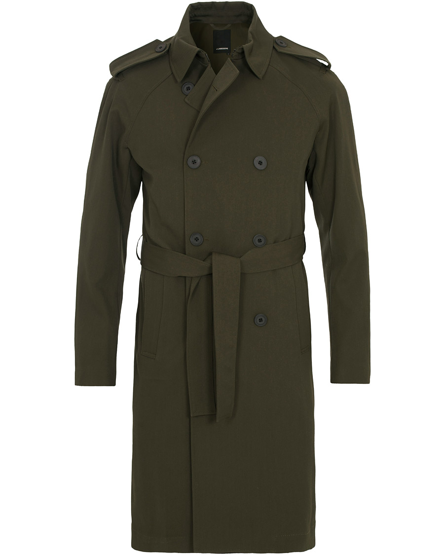 3e1472990b7 J.Lindeberg Bogart Trenchcoat Major Brown hos CareOfCarl.com
