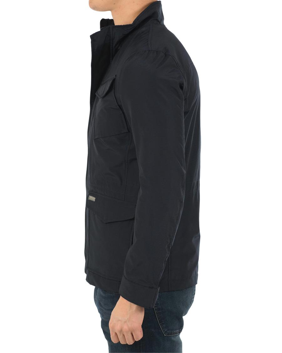 7e284250d78 Woolrich Travel Field Jacket Melton Blue