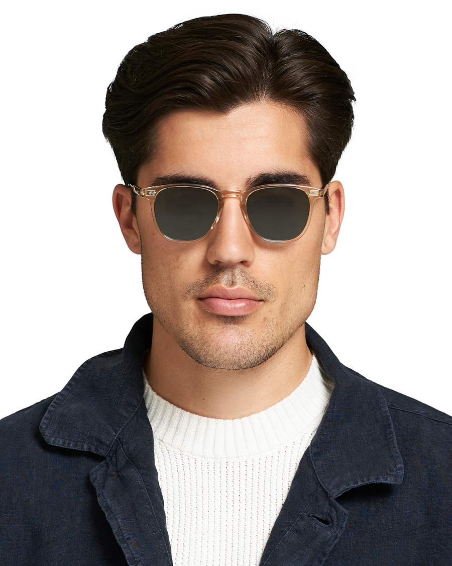 9639ea007a3 Garrett Leight Brooks 47 Sunglasses Champagne Blue Smoke hos Car