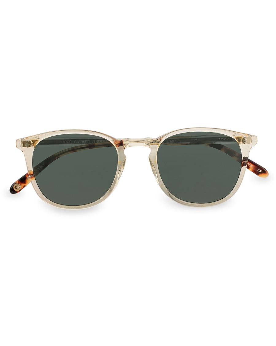 71feaeb7c4d Garrett Leight Kinney 49 Sunglasses Dark Tortoise Blue Smoke Polarized