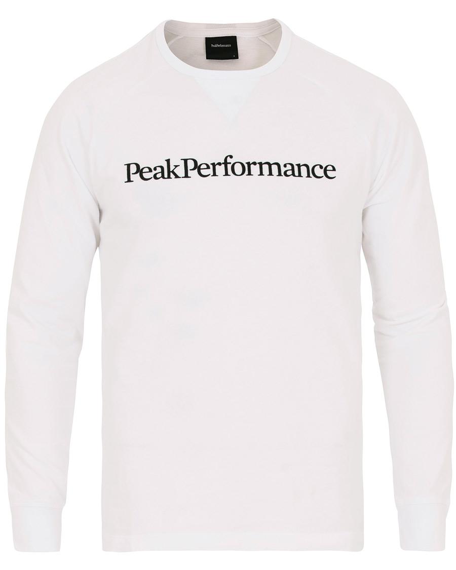 Peak Performance Walt Logo Long Sleeve Tee White hos