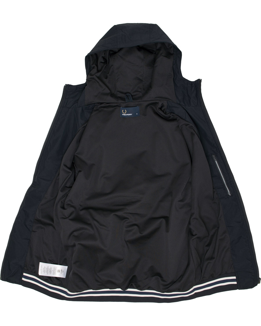 8ad34aaef85 Fred Perry Hooded Brentham Jacket Navy hos CareOfCarl.com