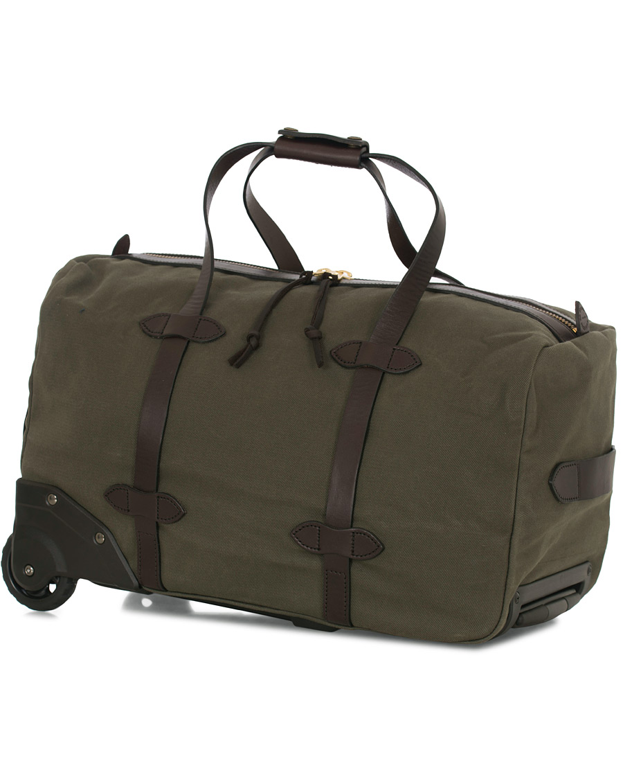 136c29605a15 Filson Rolling Duffle Small Otter Green Canvas hos CareOfCarl.co