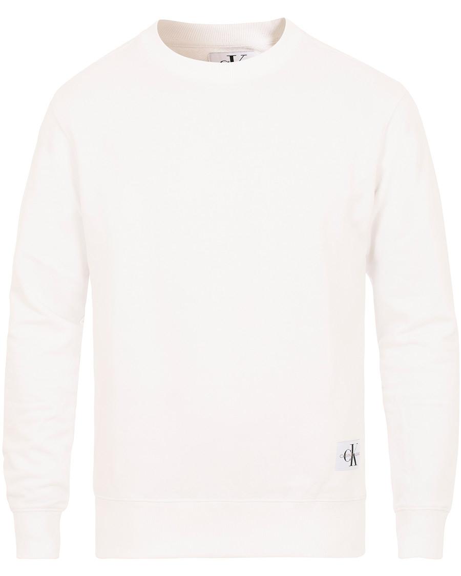 4a02d9356 Calvin Klein Jeans Monogram Chest Logo Crew Neck Sweatshirt Bright White