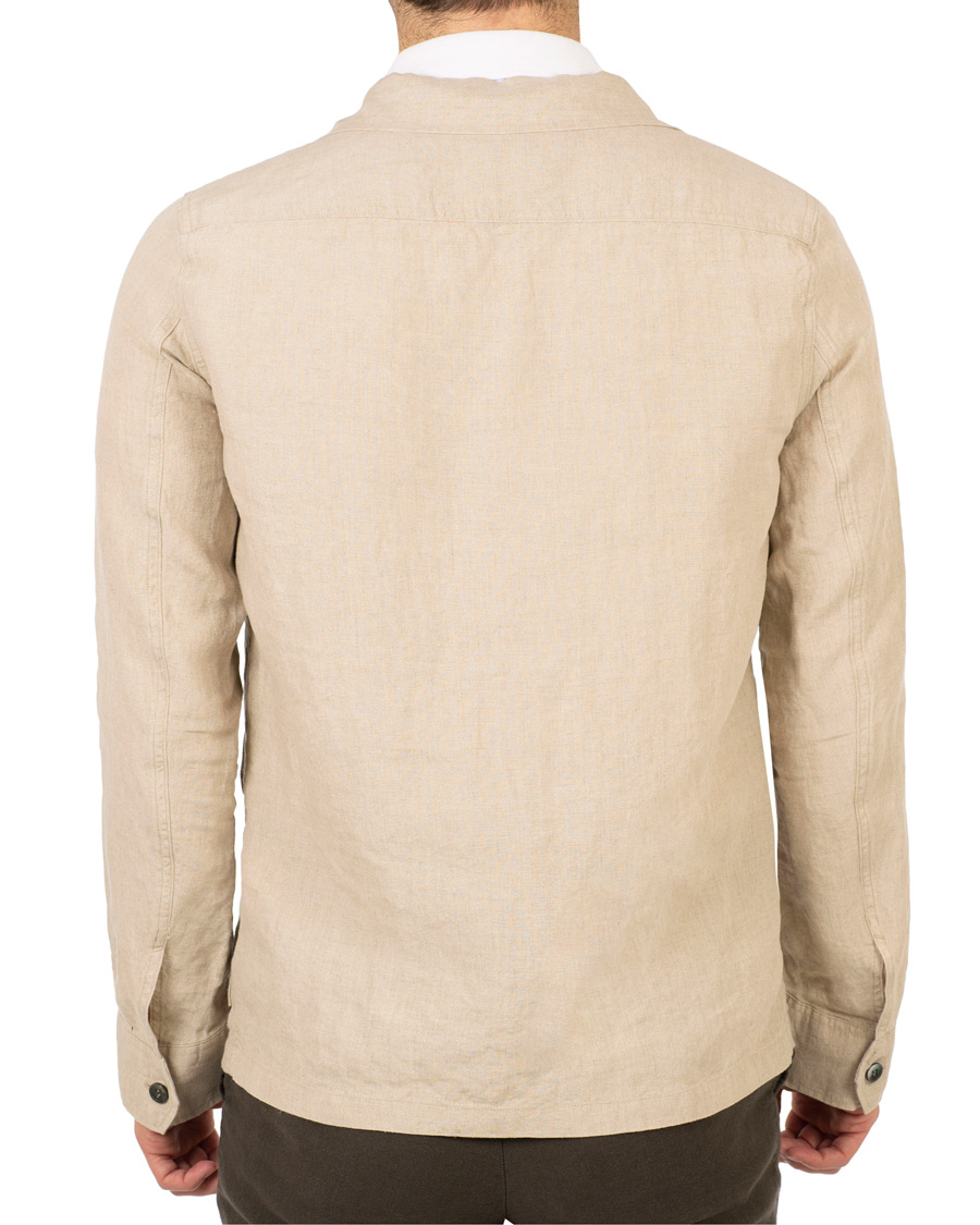 Oscar Jacobson Safari Linen Shirt Jacket Beige hos