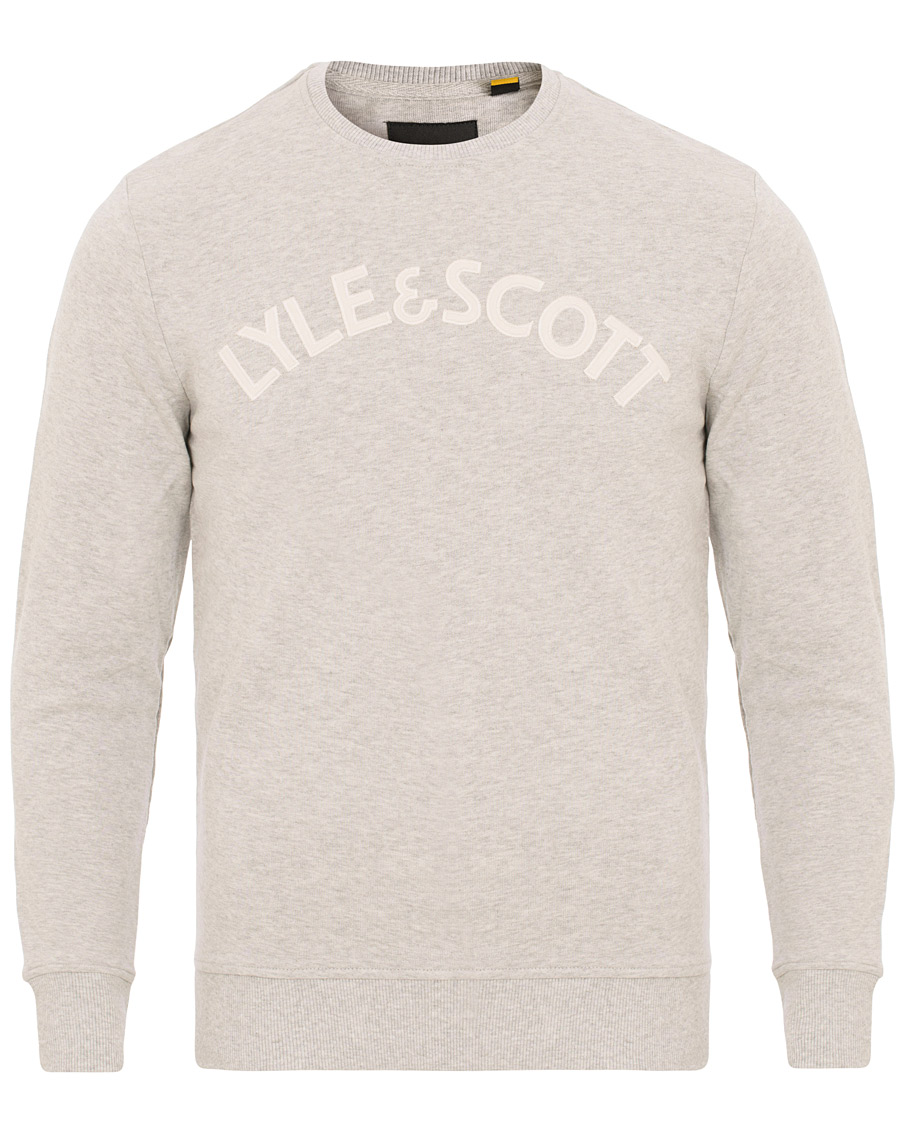 Lyle & Scott Logo Crew Neck Sweatshirt Light Grey Marl hos